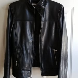Avanti black leather jacket